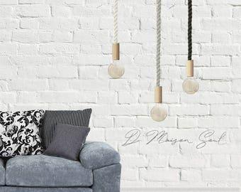 Sale  Rope Pendant Lighting. Nautical Pendant Light. Nordic Lighting. Organic Lighting. Natural Home Decor. Minimalist Hanging Pendant.