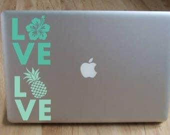 Custom Love Decals Etsy - Custom vinyl decals hawaii