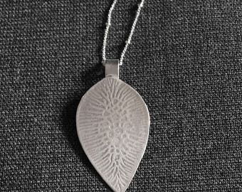 Sterling Silver Patterned Pendant