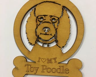 Toy Poodle Dog Ornament