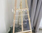 Vinyl Decal for A2 or A3 Wedding Welcome Sign - Easy to Apply Wedding Sign Sticker - Wedding Signage DIY