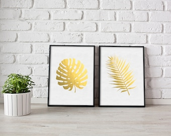 FAUX GOLD FRONDS | Home Decor Printable