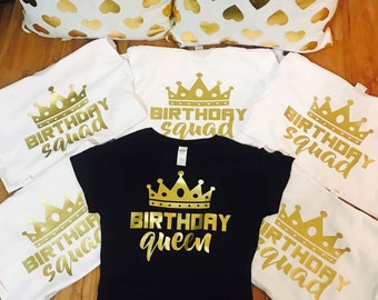Birthday shirts for women, birthday squad shirts, birthday shirt women, squad goals, adult birthday shirt, birthday girl shirt