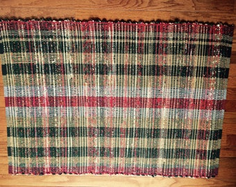 Handwoven  Rag Rug   Reversible  Durable  Colorful  Washable
