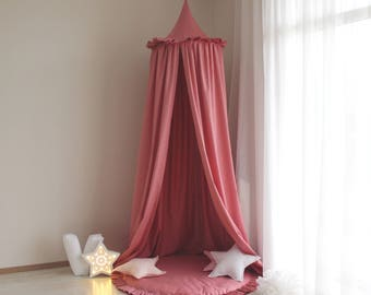 Deep Rose canopy / Bed canopy / Kids canopy / Baldachin / Crib canopy / Play & Powder Pink canopy / Bed canopy / Kids canopy / Baldachin /