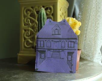 Purple Island House Sticker