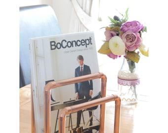 Copper pipe magazine rack/letter holder