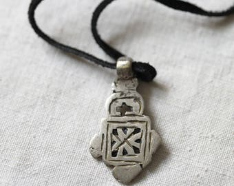 Coptic Cross, Ethiopian, Christian, African, old religious, necklace, pendant