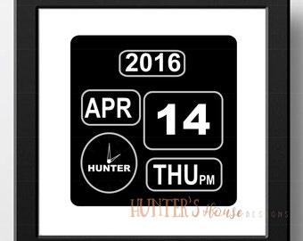 Birth Announcement | Digital Clock | Digital File