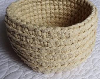 Crochet fabric Basket - Beige