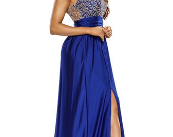 Modern Top Lace Evening Gown 50522