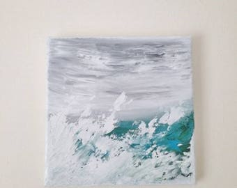 Storm | Acrylic Painting on Canvas | Abstract Ocean | Seascape | Original Art