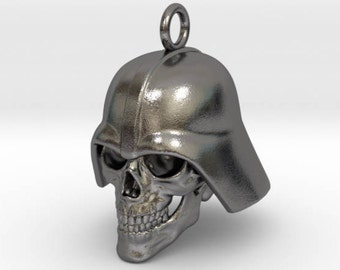 Skull Vader pendant / polished nickel steel