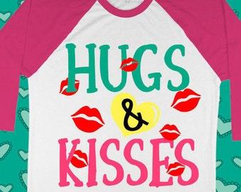 Hugs and kisses svg - svg valentines - Valentine's day svg - Valentine's day shirt - Love svg - Kisses svg - Girl svg -SVG- dxf, pdf,png,eps