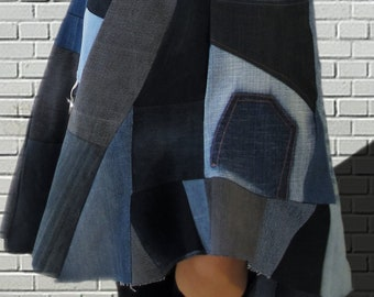 Rokk Unique 3 Denim skirt