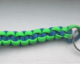 Paracord Keychain (Green & Blue)