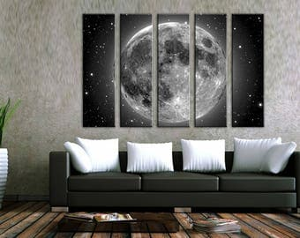 Moon Space Wall Art Canvas Print Wall Decor Canvas Wall Art Large Canvas  Art Home Decor