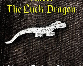 Falcor Dragon Enamel Pin | The NeverEnding Story Movie Character | The Luck Dragon | Lapel Pin | Denim Jacket Gift