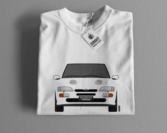 T-shirt Ford Escort RS Cosworth | Gent, Lady and Kids | all the sizes | worldwide shipments | Car Auto Voiture