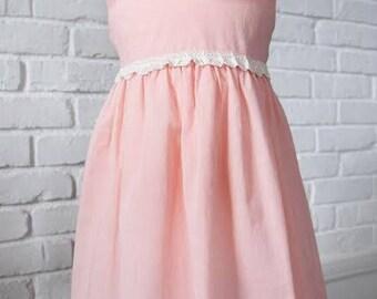 Gabrielle Tie Bow Dress in Pink