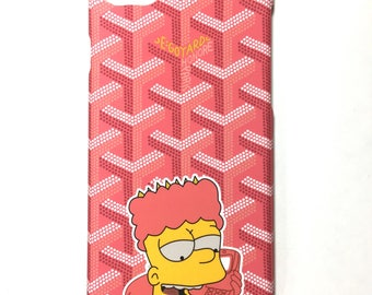 Bart Trap God iPhone 8 / 7PLUS / 7 / 6PLUS / 6 Pink Black Custom Goyard