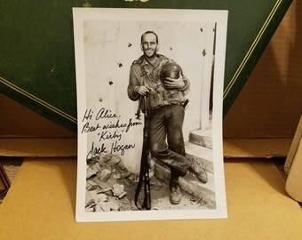"Jack Hogan - TV Star Known Best for ""Combat!"" - Rare Autographed 5x7 Photo"