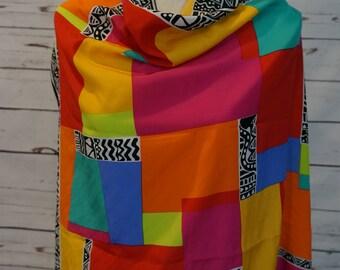 Vintage Multicolored Scarf