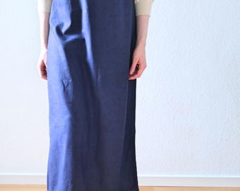 Blue Maxi Dress- Linen Dress- Long Dress Natural Linen