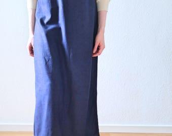 Blue Maxi Dress- Linen Dress- Long Dress Natural Linen