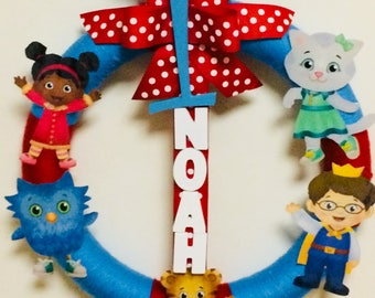 Daniel Tiger Bday Wreath