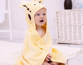 Personalised Jolly Giraffe Baby Towel
