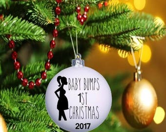 Baby Bumps First Christmas Ornament, Baby Bump Gift, Expecting Mom Gift
