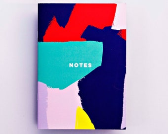 Bright Brushstroke Notebook, Journal, Fashion Stationery, Fashion Notebook, Cool Notebook, Minimal Notebook Fashion Gift Limited Edition