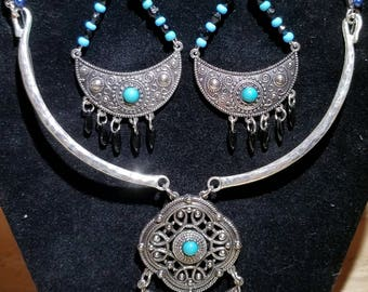 Southwest Style Necklace and Earrings