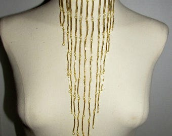 Black & Gold Statement Necklace