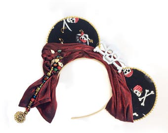 Pirates of the Caribbean Mouse Ears | Pirate Mouse Ears | Mouse Ears