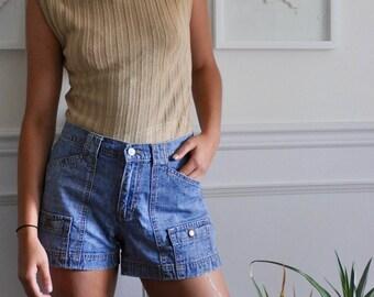 High-waisted Vintage Denim Shorts