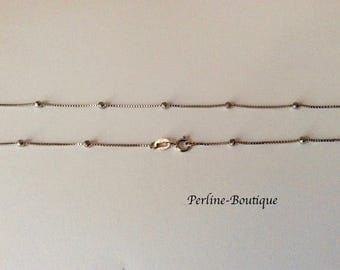 45cm 925 sterling silver satellite chain