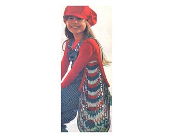 Netted Bag - Crochet Pattern - Stretchy Carry all for groceries, toys, produce, beach gear, and more