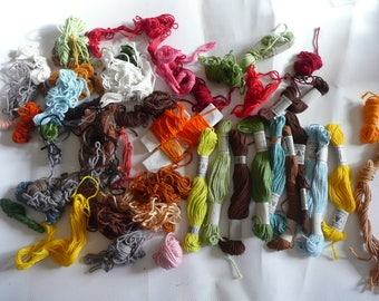 Lot of  skeins of cotton to embroider your canvas & tapestry Brand: DOLLFUS MIEG