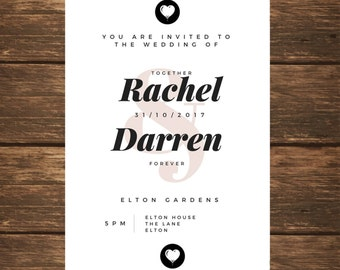 Wedding Invitation - Wedding Invitation Template -Trending Now - Wedding Invite PDF - Editable Invitation - DIY Printable #AC0014