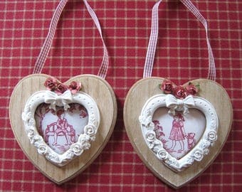 Duo of tender and delicate hearts for children's room