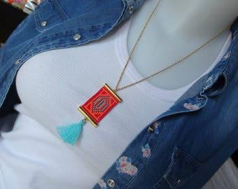 Weaving beads miyuki and tassel necklace