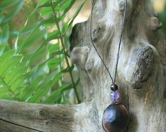 Seed Amazon eye Amethyst necklace