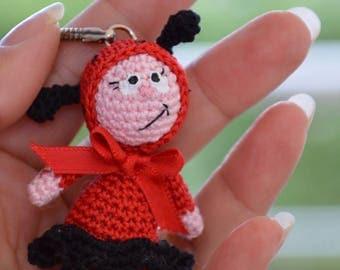 Crochet Ladybug keychain