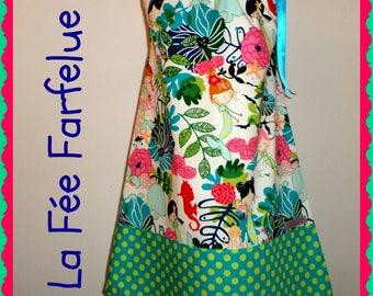 Dress designer cotton Mermaid 2 to 10 years