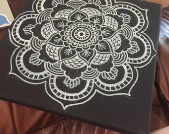 Two Tone Mandala Painting