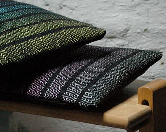2 Hand woven decorative rainbow pillows covers, Living room, cushions, Weaving exclusive gift, gift for Mom, gift for friends