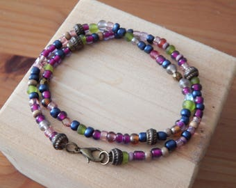 Multicolor Beaded Wrap Bracelet