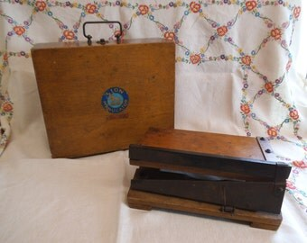 Vintage Lion Menucator No. 2 & Old Paper Guillotine/Cutter